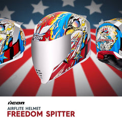 Icon Racing Freedom Spitter Airflite Helmet