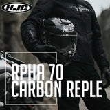 HJC Motorcycle Street Helmet | RPHA 70 Series Carbon Reple