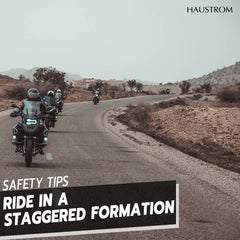 Motorcycle Riding Safety Tips | Staggered Formation For Motorcycle Group
