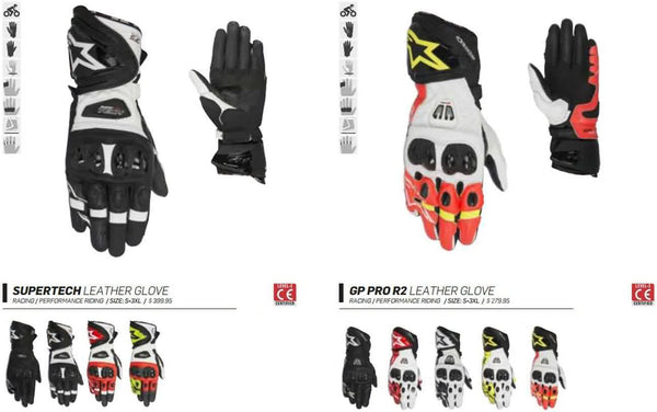 Alpinestars Mens Gloves Fall 2017 Motorcycle Street Racing Lookbook