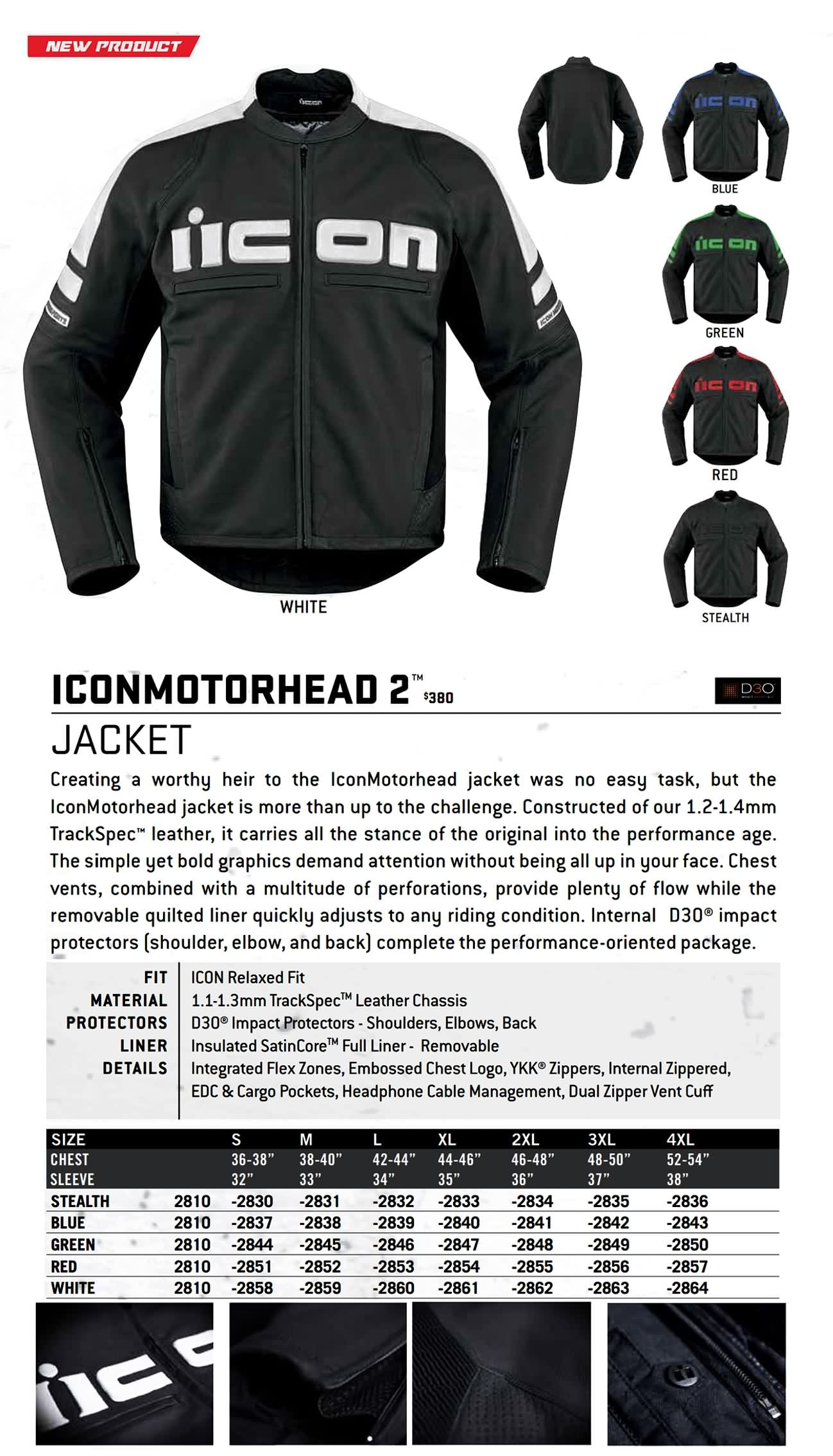 Icon Motorsports Spring 2016 Jackets Vest Lookbook