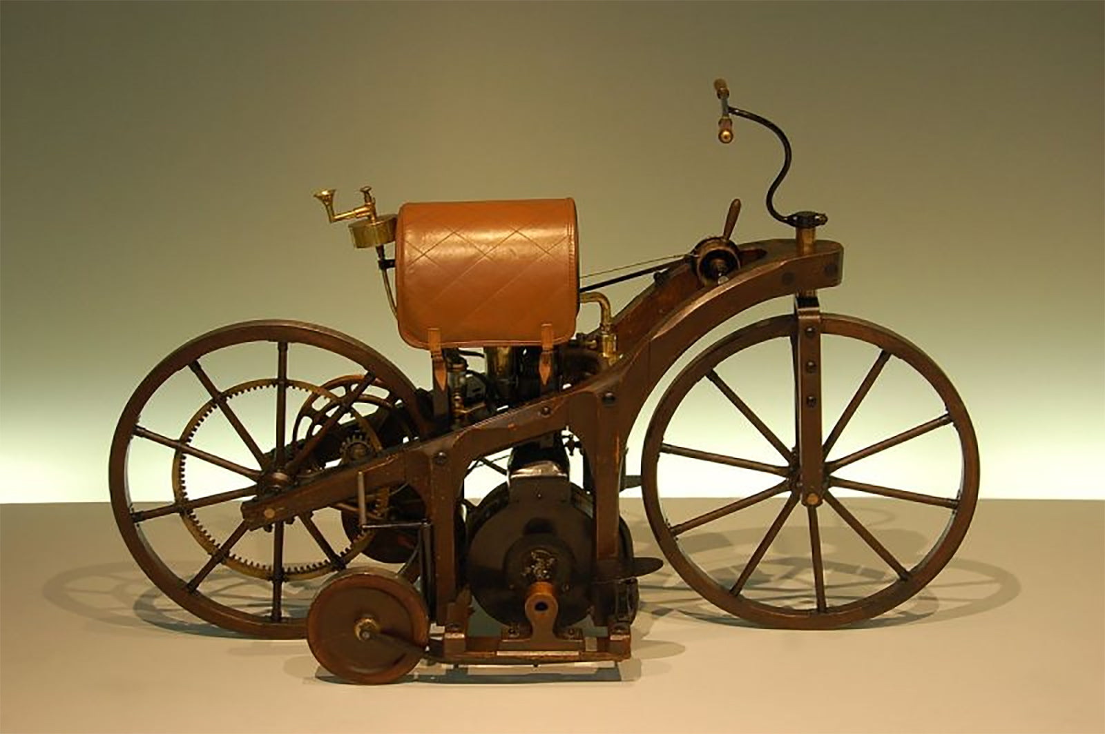 The Replica of first combustion engine motorcycle