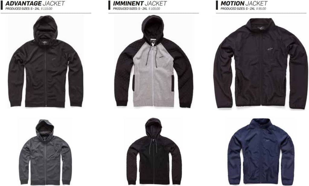 Alpinestars Mens Jackets and Sweatshirts Fall 2017 Lookbook