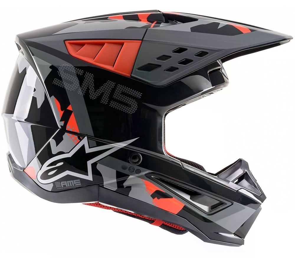 Anthracite / Red Flourescent / Gray Camo Glossy