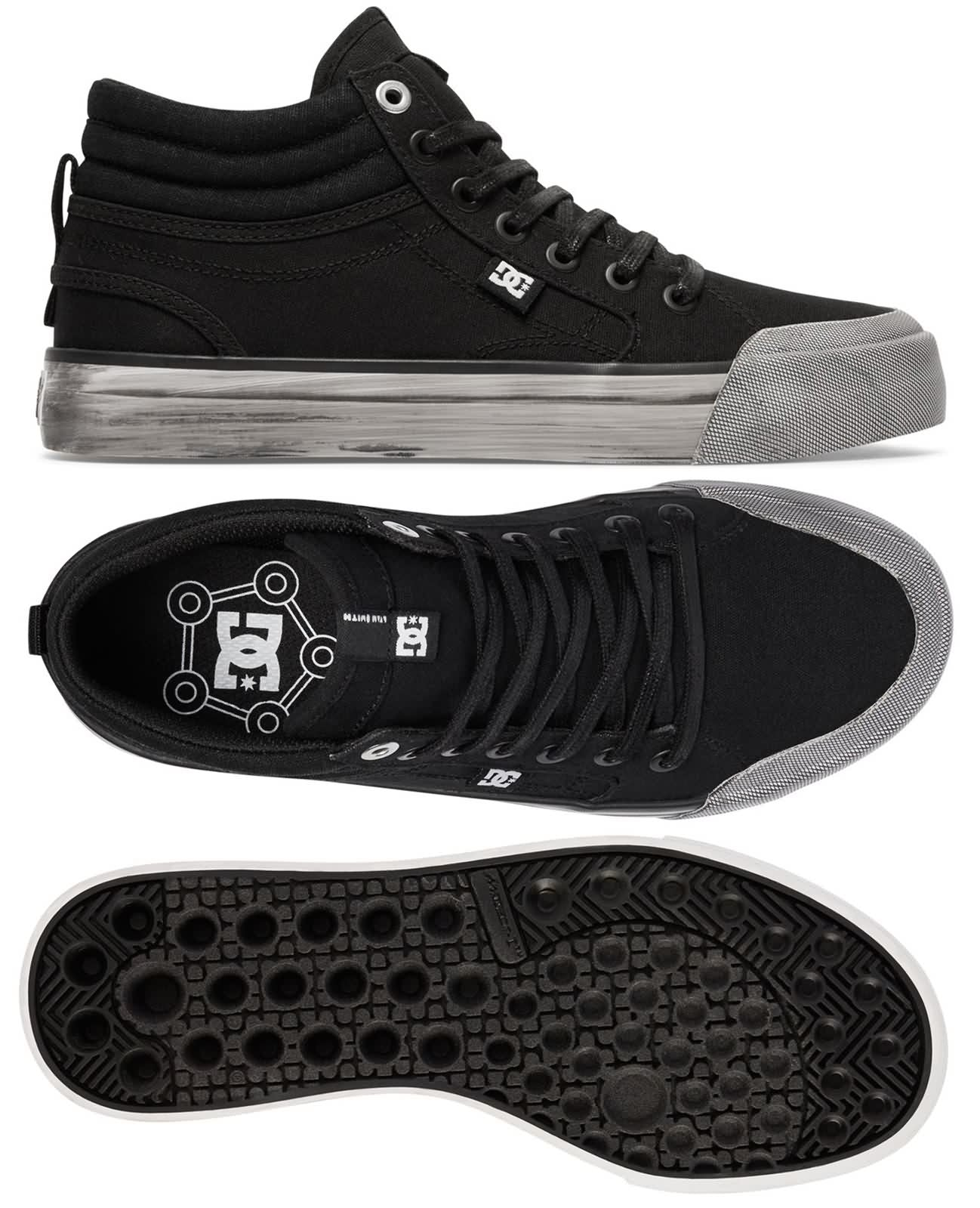 DC SHOES NEW BYO EMPIRE TX SKATE TRAINERS BLACK YELLOW MENS SNEAKERS SMART