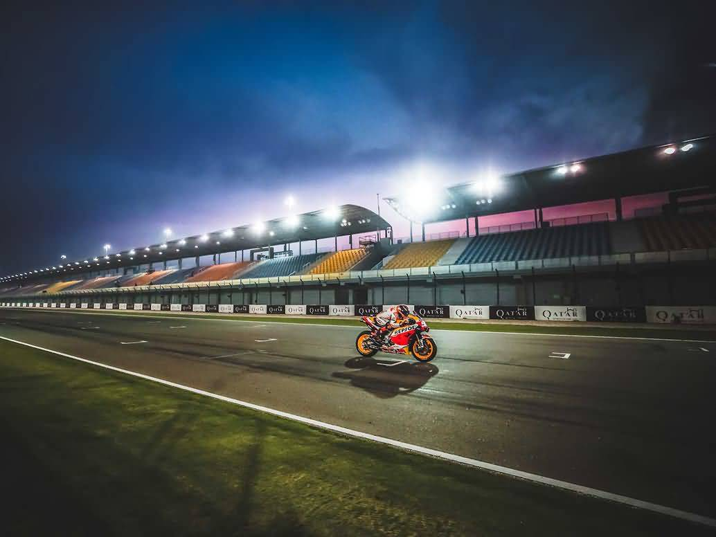 The MotoGP class won't be kicking off the 2020 season under the lights of Losail, as concerns over the coronavirus outbreak have forced officials to cancel the event.Honda Racing