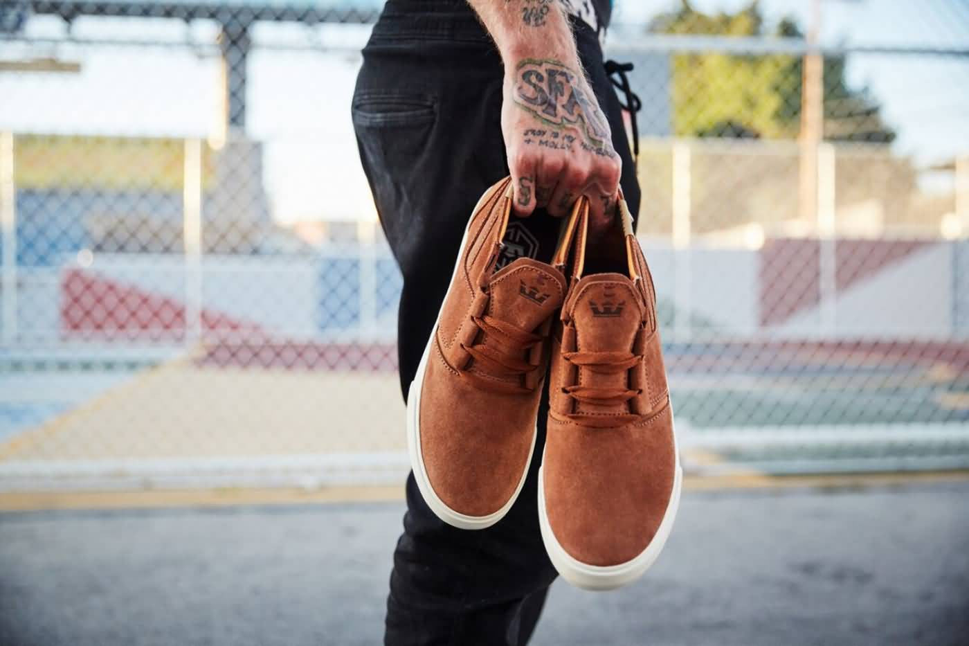 ddd8f5cb8b3 Coming' in hot with a brand new skate style! The Kensington debuts in  Supra's crown with a Lizard King signature color way with a brown suede  upper and bone ...