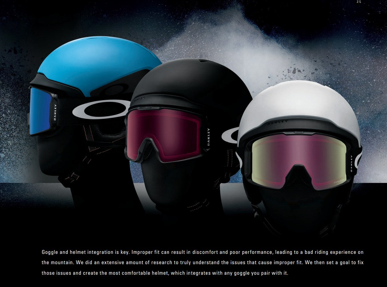 Oakley Snow Goggles and Helmets 2016