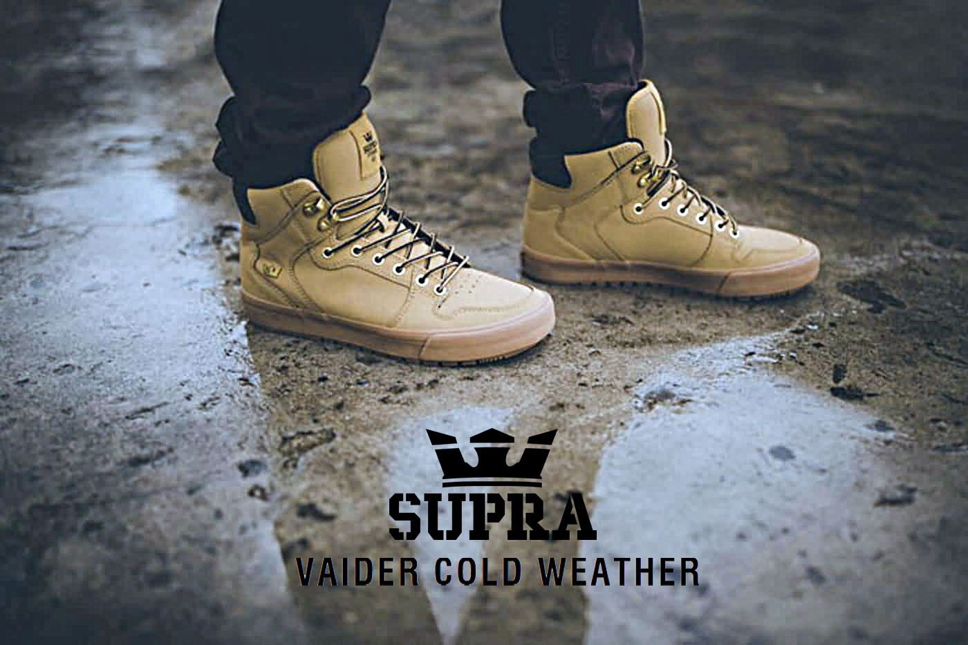 6319a03a79f6 Supra Footwear 2017 Vaider CW Cold Weather Skateboarding Skate Shoes ...