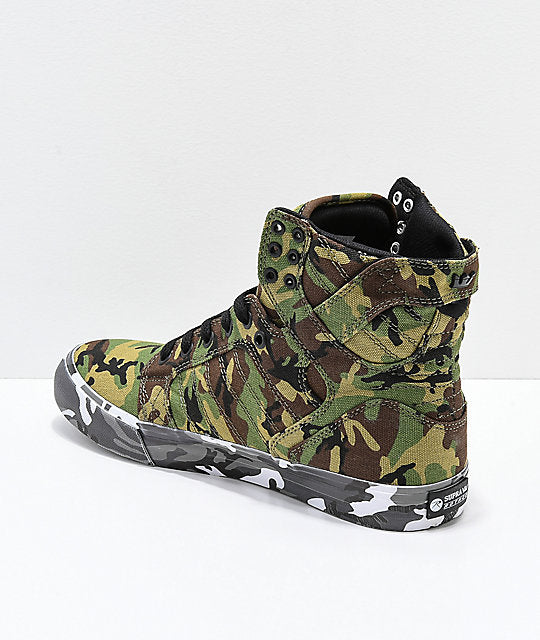 Supra Rothco Collaboration 2018 Footwear Camo Skate Shoes Collection ... d37981391043
