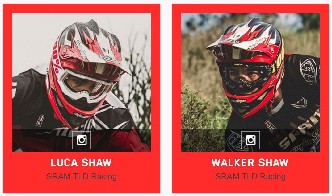 Troy Lee Designs TLD 2016 BMX Mountainbike MTB Sponsored Rider Team