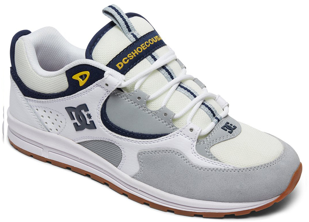 DC Shoes 2018 94 Collection Kalis Lite Shoes White/Grey/Yellow - WYY