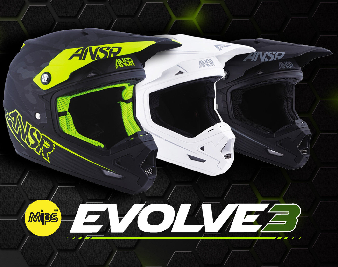 Answer Racing 2017 Evolve 3 MIPS Offroad Motocross Motorcycle Helmet