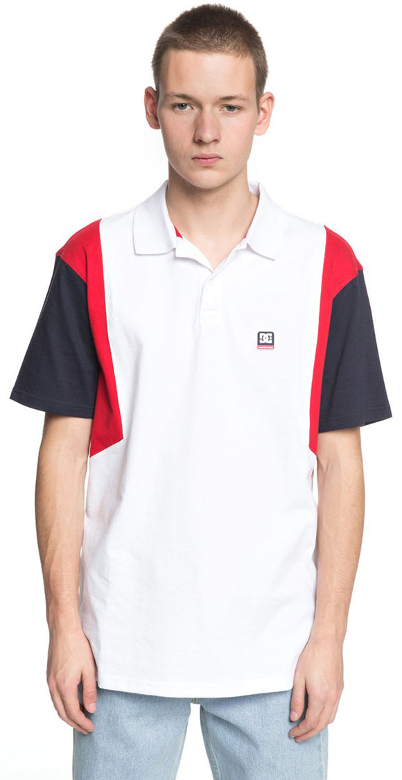 DC Shoes 2018 94 Collection Fenton Polo Shirt Snow White - BYG0