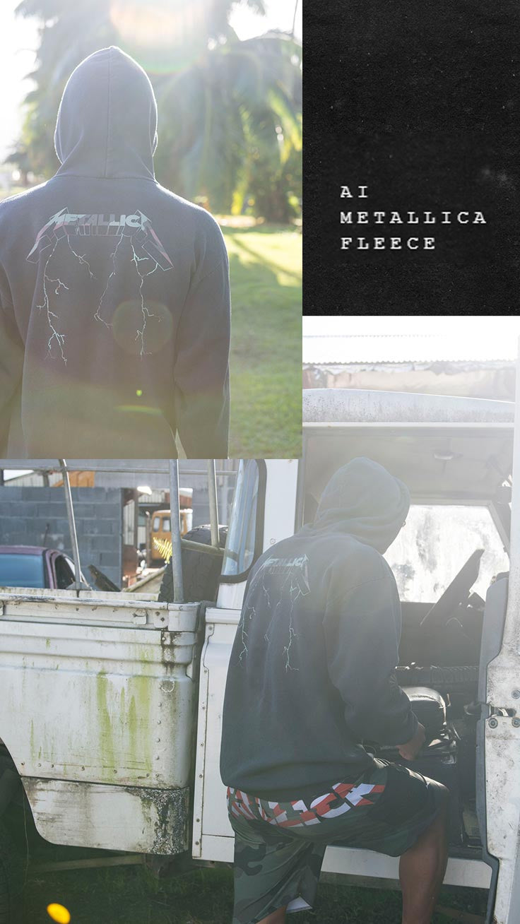 AI METALLICA FLEECE