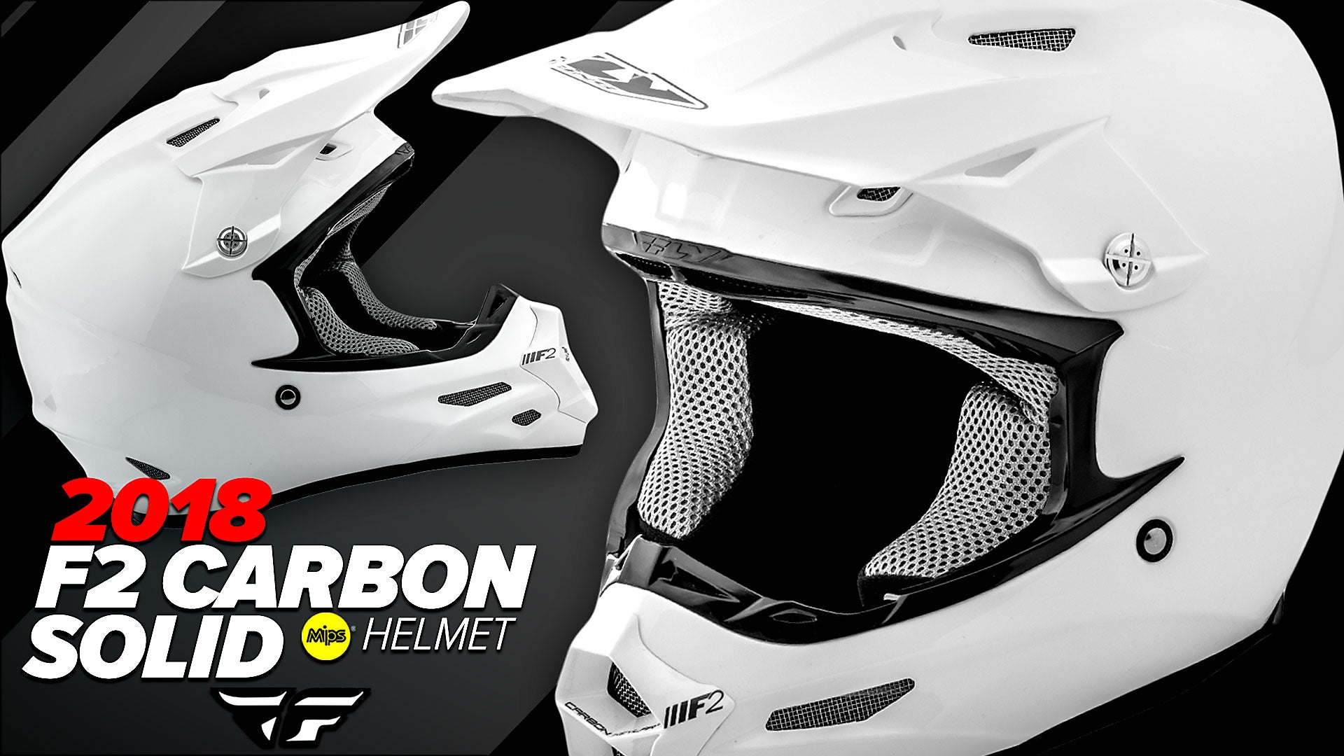 Fly Racing MX 2018 | F2 Carbon Solid Off-Road Motorcycle Helmets