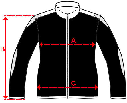 Fox Racing Jacket Size Chart