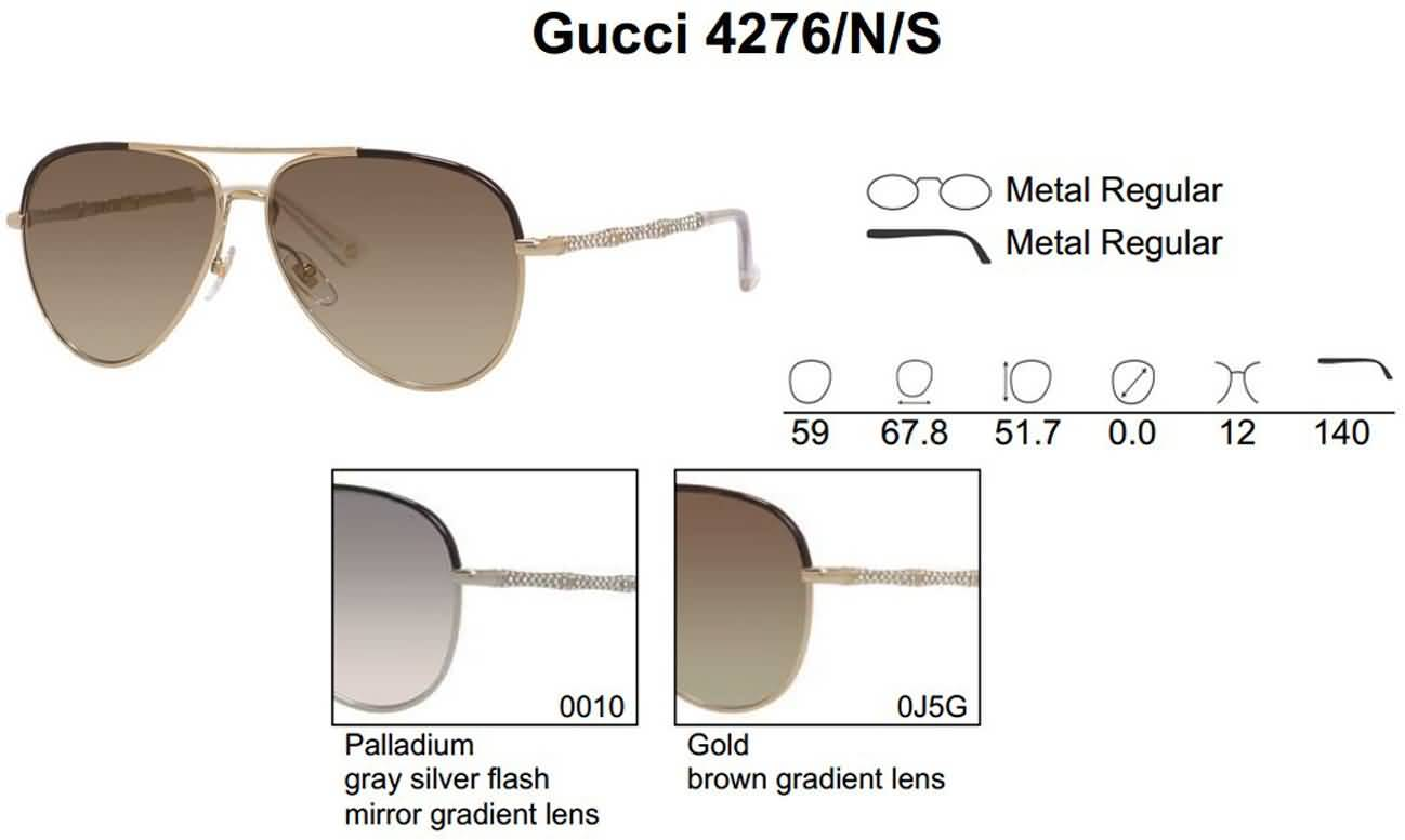 Gucci Eyewear Women's Aviator Fashion Sunglasses