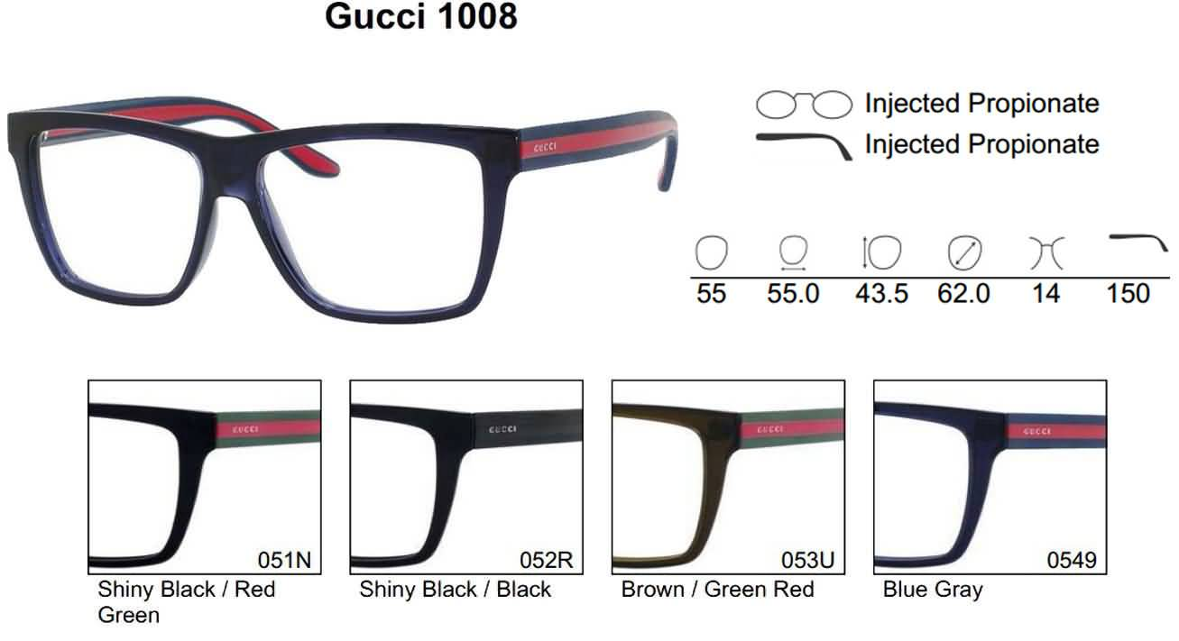 fcf661e4fe3 Gucci Eyewear Mens Womens Designer Eyeglasses Prescription Lenses ...