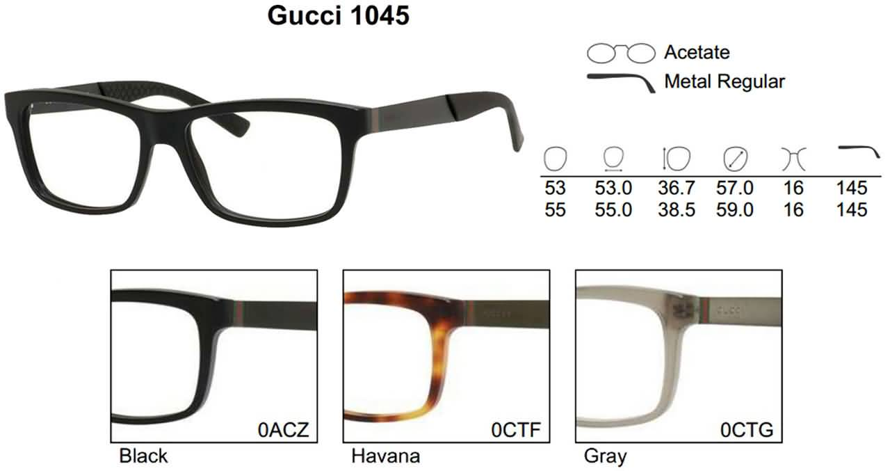 Gucci Eyeglasses for Mens and Womens