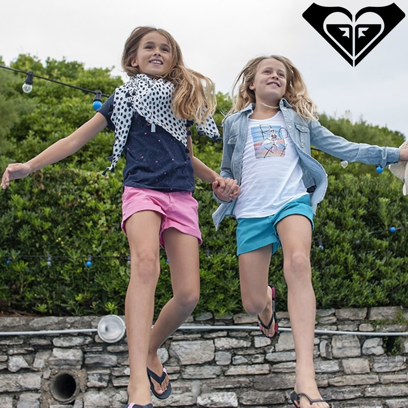 Young girls  Roxy Surf Summer 2017 Young Girls Casual Beach Pants & Shorts Collection