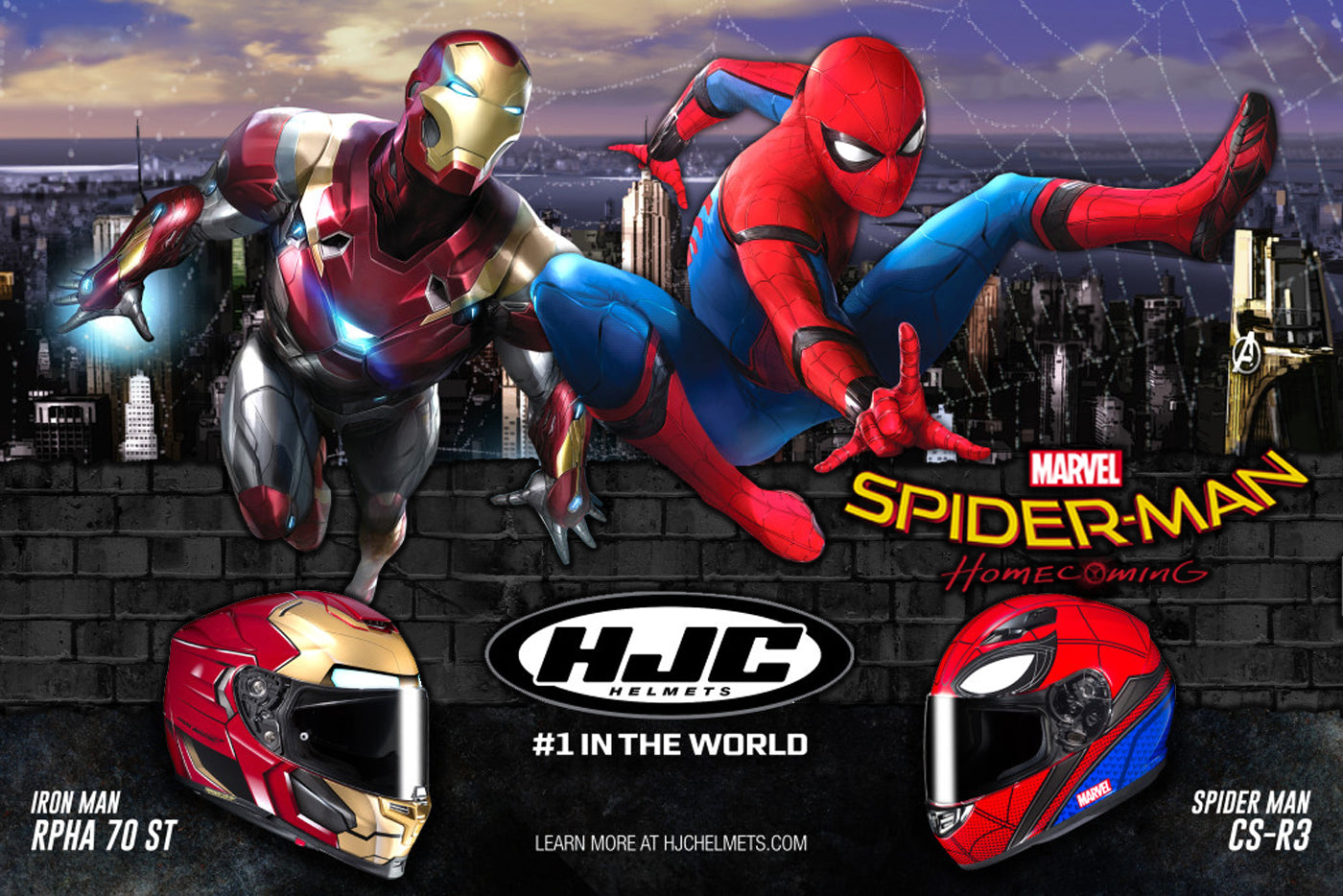 2fb167a2002b New HJC Marvel Super-heroes Street HelmMeet the New HJC Spiderman ...