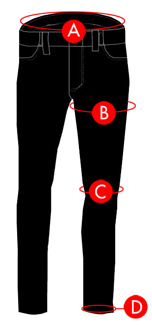 MEN'S BOTTOM SIZE CHART