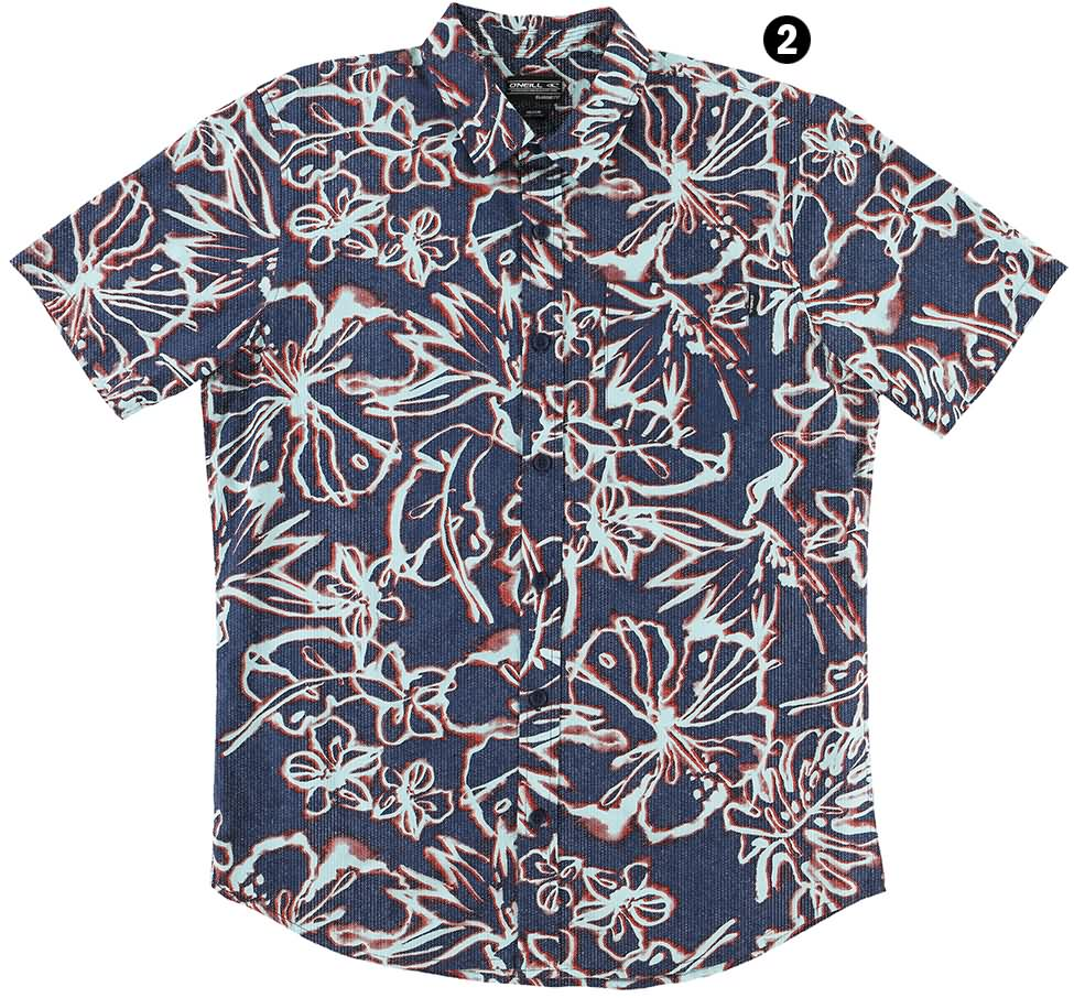 O'Neill Surf Summer 2017 Mens and Youth Boys Woven Shirts Lookbook