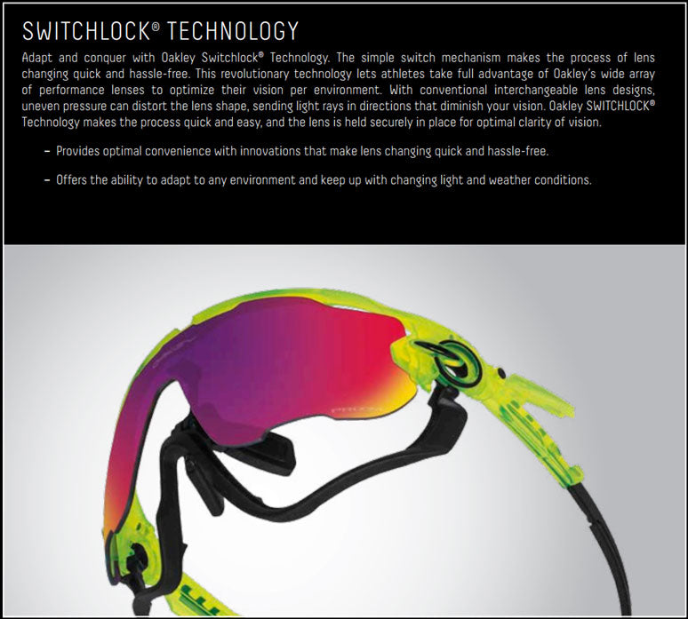 Oakley Switchlock Technology