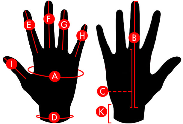 Quiksilver Men's Gloves Size Chart
