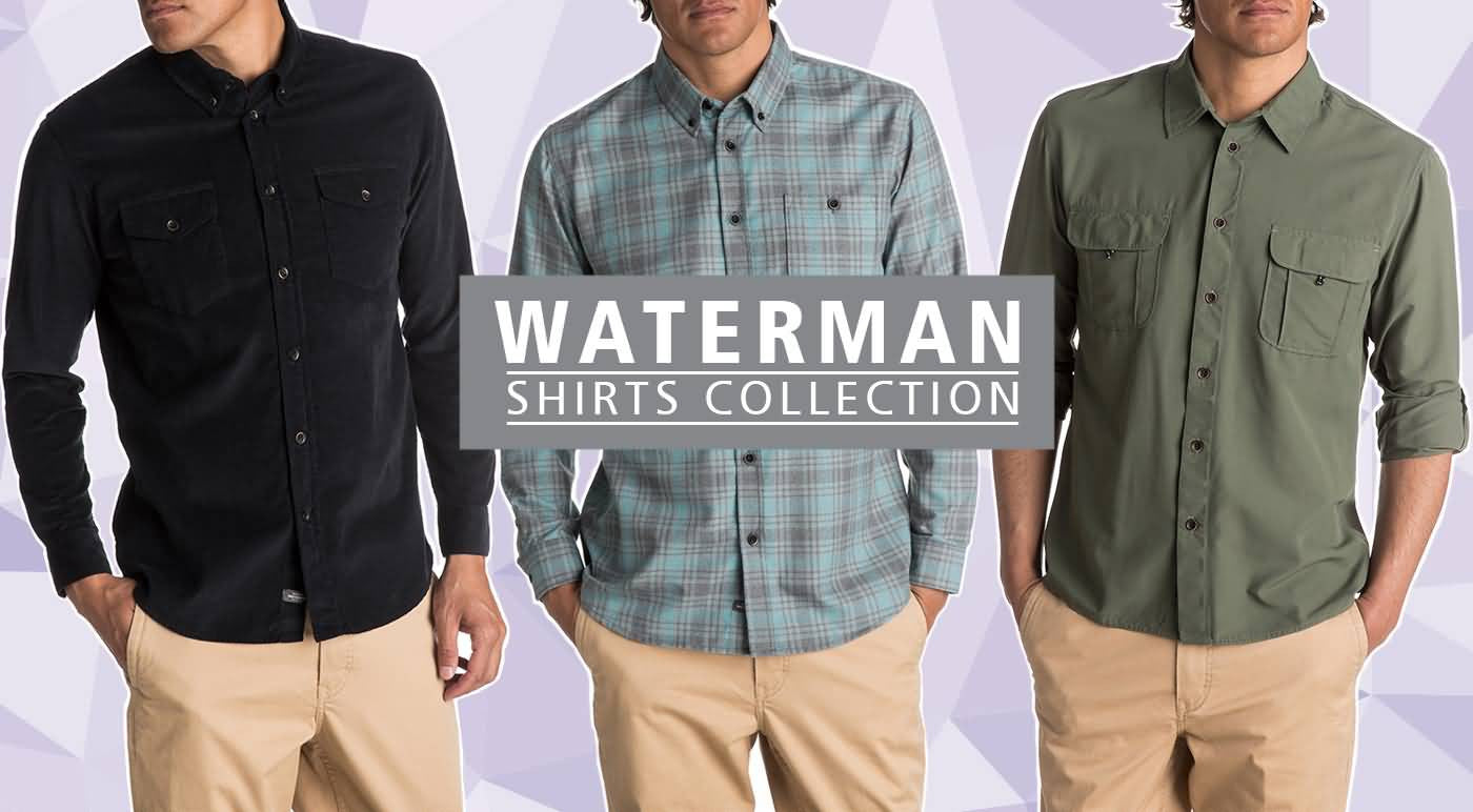 Quiksilver Waterman Fall 2017 Apparel | Mens Lifestyle Long Sleeve Shirts