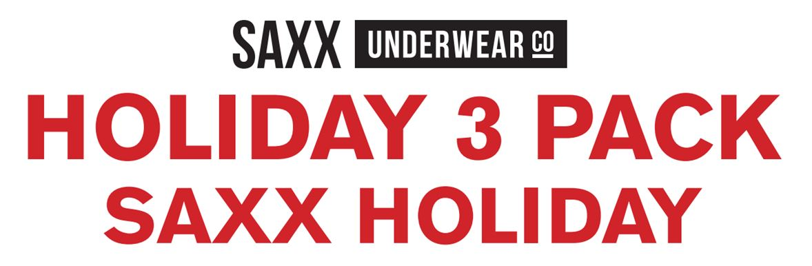Saxx Mens Underwear Boxer Briefs Holiday 2016 3 Pack for Sale at Haustrom