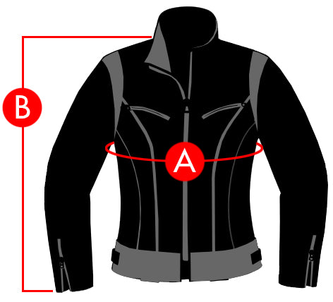 Icon Jackets Size Charts