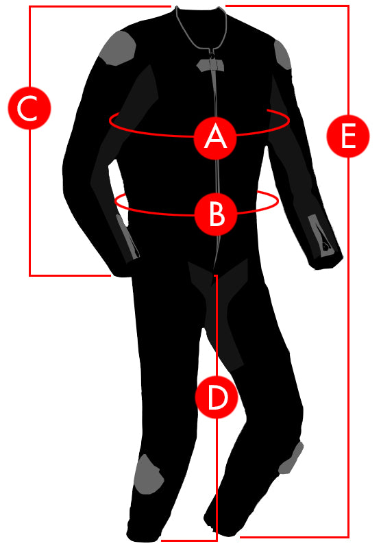 Joe Rocket Leather Race Suit Size Charts