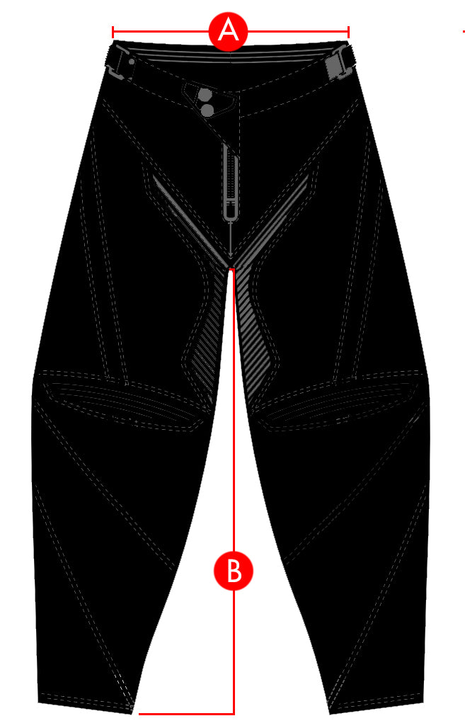Alias MX Pants Size Charts