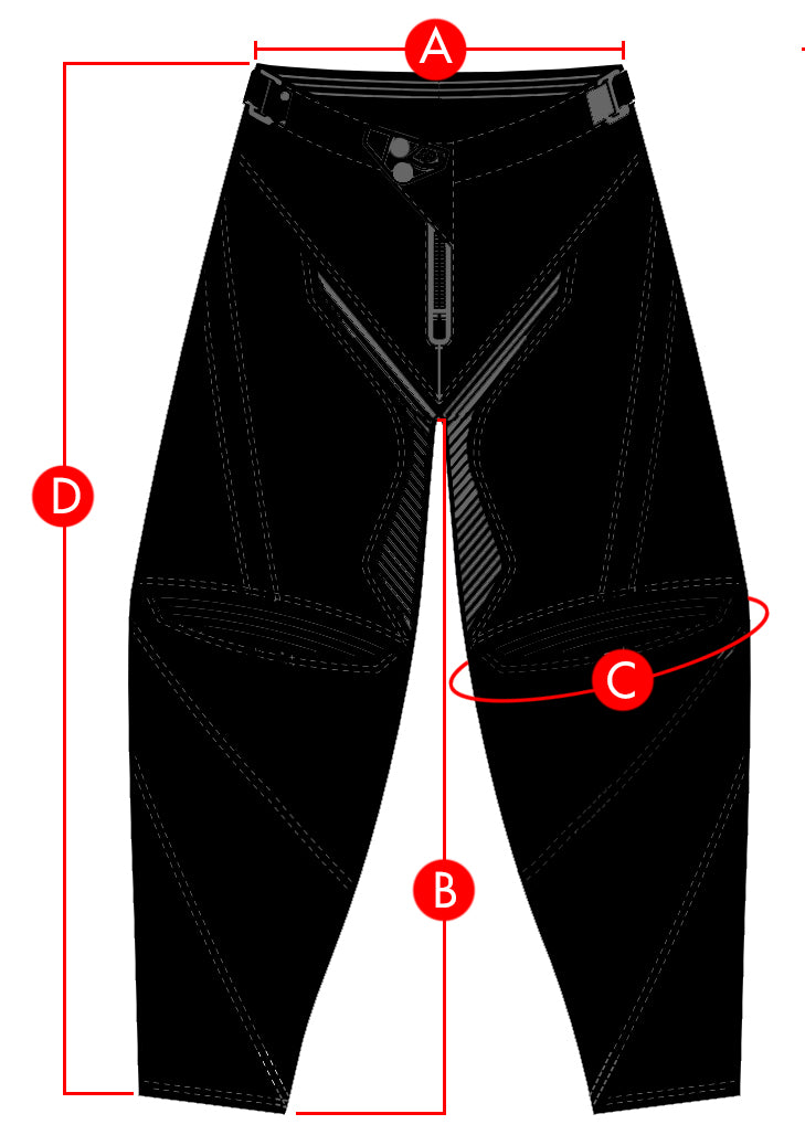 Troy Lee Pants Jerseys Size Chart