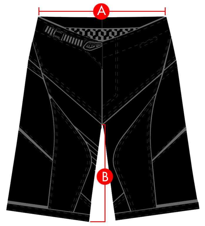 Troy Lee Designs Shorts Size Chart