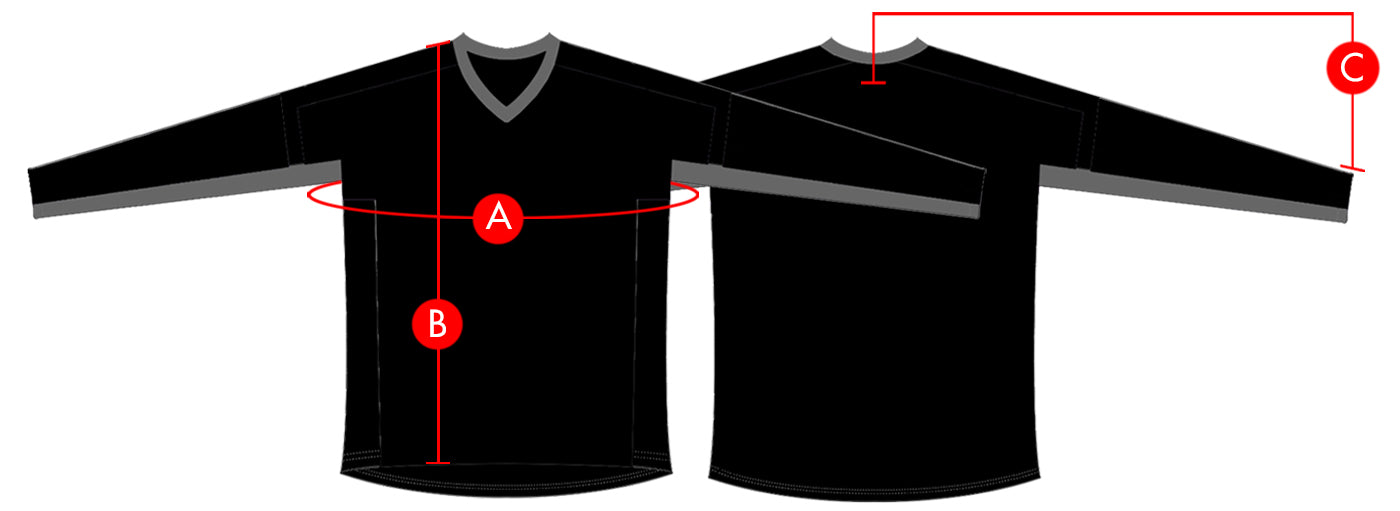 Troy Lee Designs Jerseys Size Chart