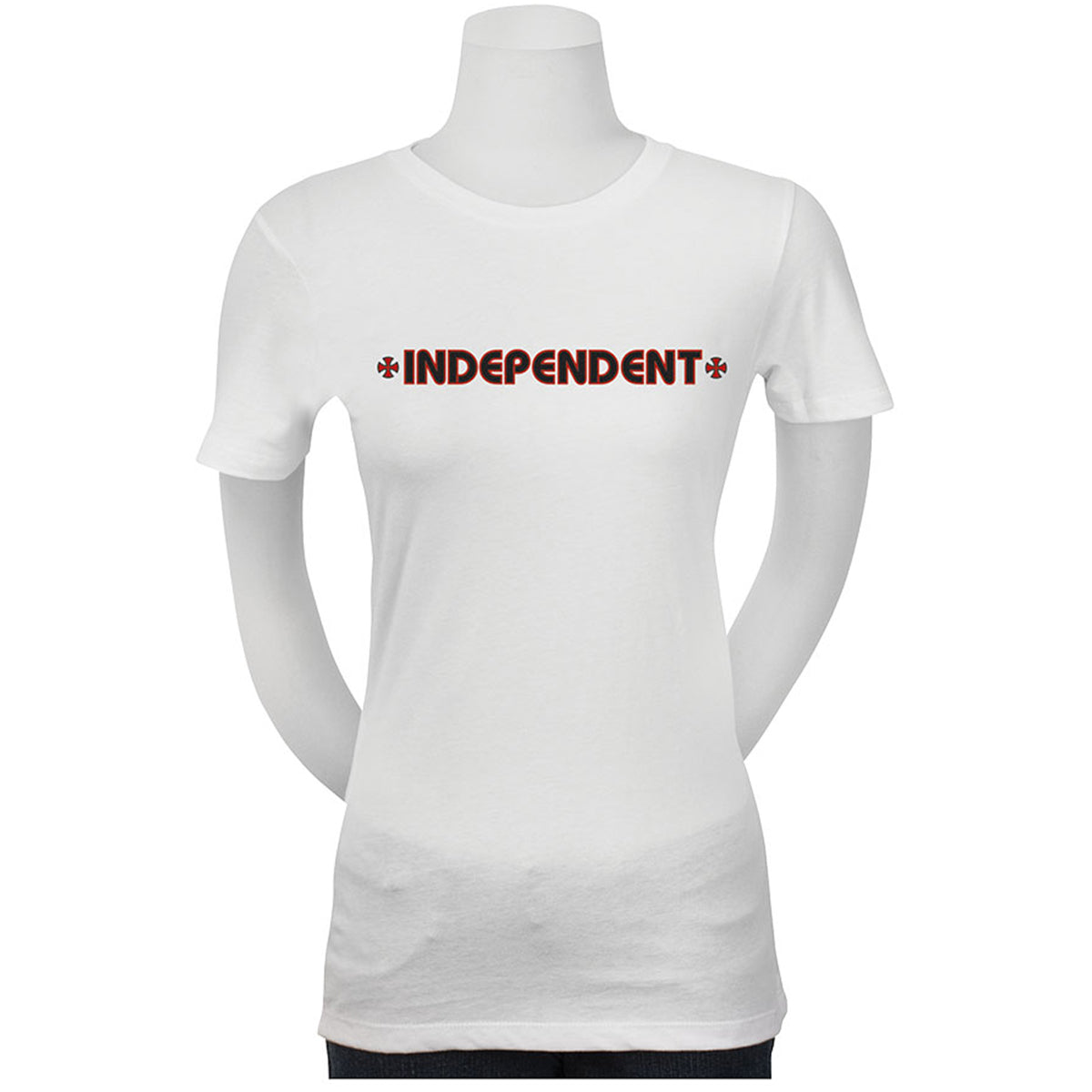 Independent Bar/Cross Fitted Youth Girls Short-Sleeve Shirts-44151985