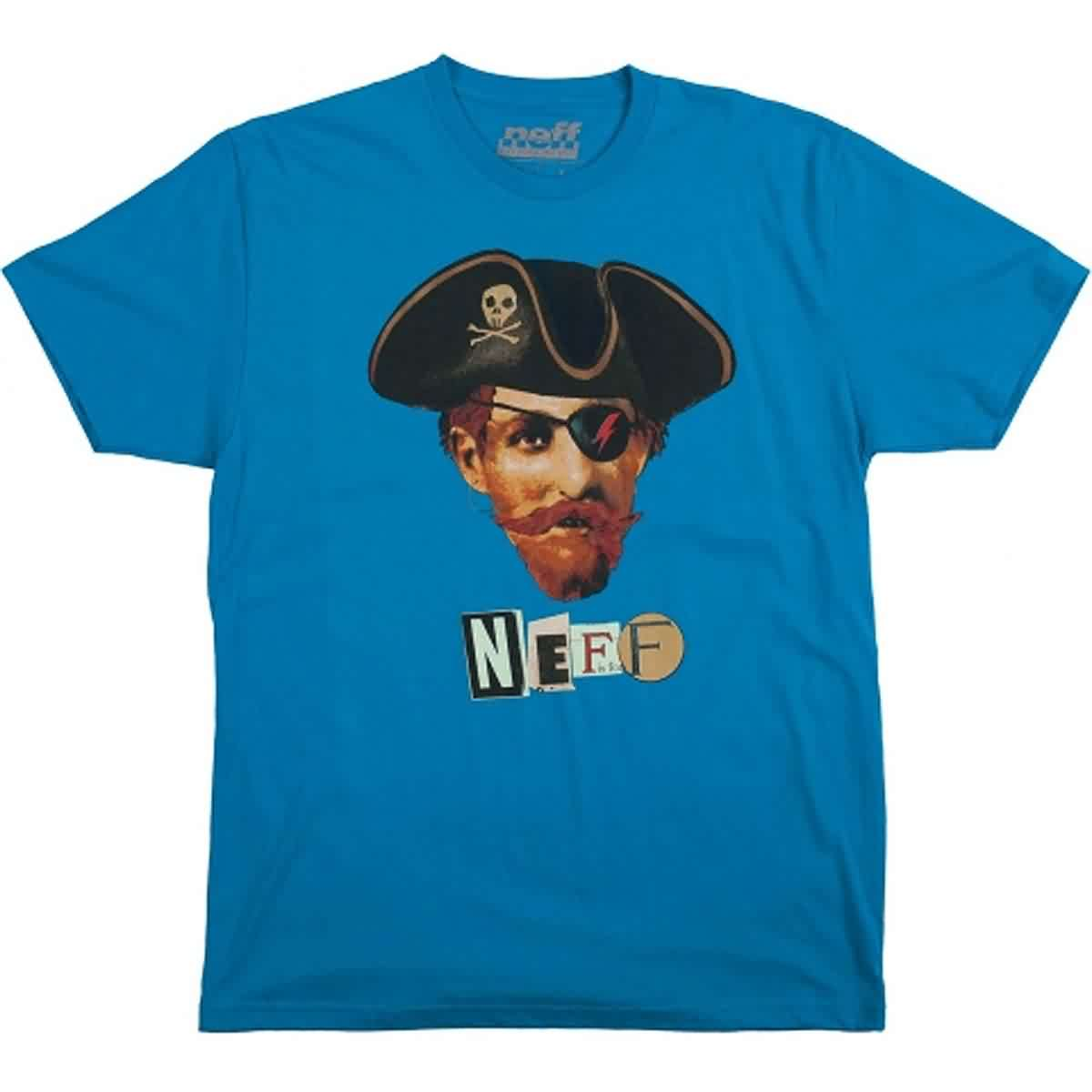 Neff Pirate Bolty Men's Short-Sleeve Shirts - Turquoise