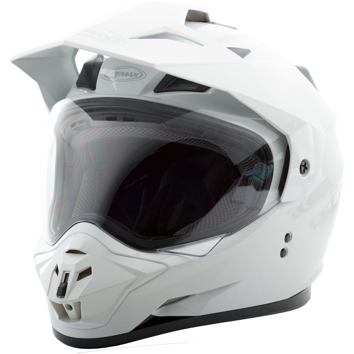 GMAX GM11 Solid Men's Off-Road Helmets (New - Without Tags) - White