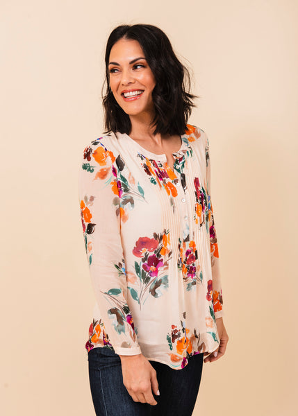 Lily Semi-sheer Floral Top