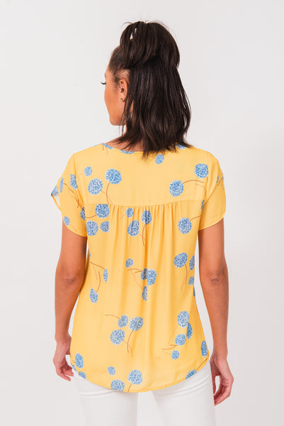 Avery Yellow Embroidered Top B226 LEMON ZEST