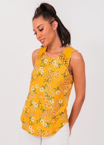 Eleanor Floral Yellow Tank K630 SUN