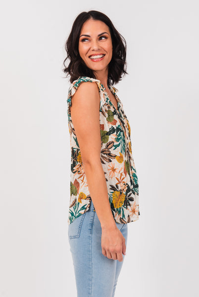 Aria Botanical Short-Sleeved Top Aria Botanical Short-Sleeved Top