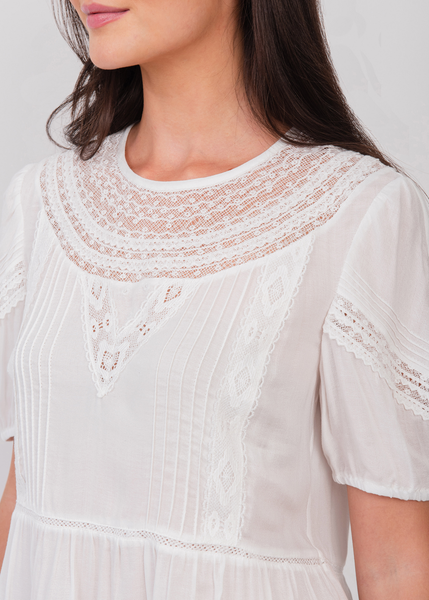 Azure Lace Top Ivory