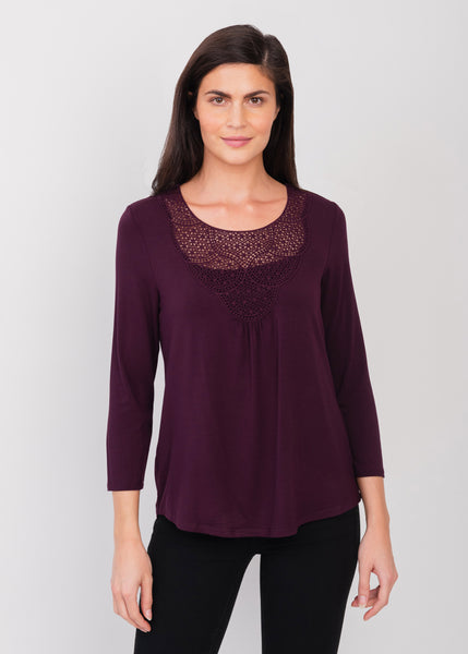 Purple Lacework Top