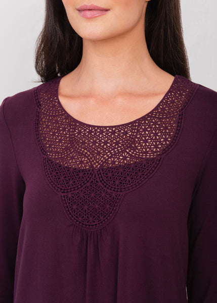 Purple Lacework Top NEW PLUM