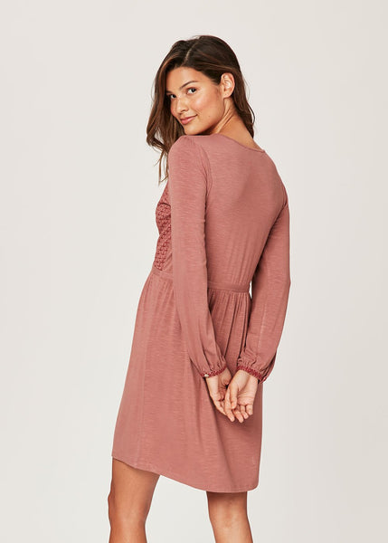 Pastel pink knit dress with tassel tie-in detail Frappe