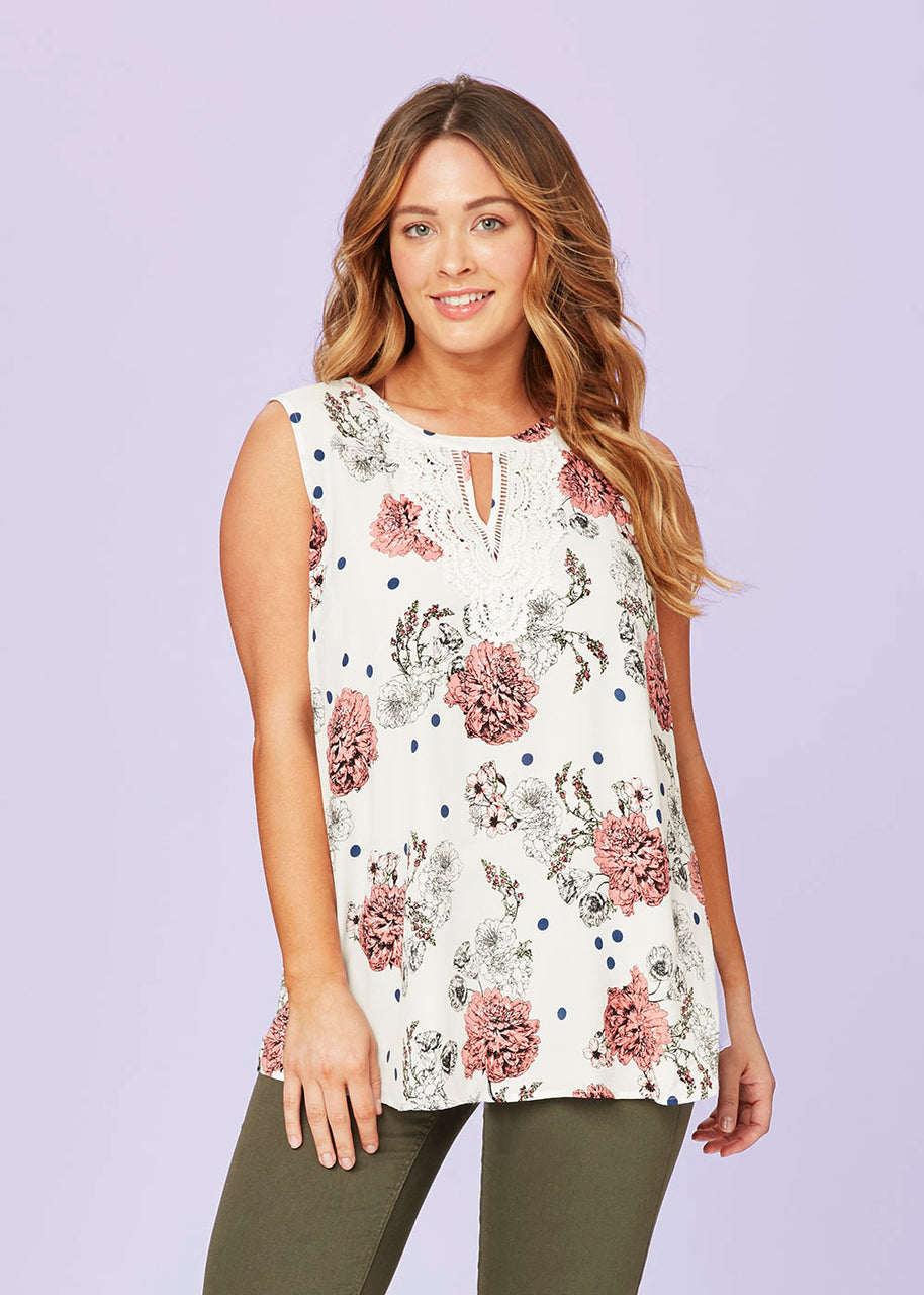 Ivory Knit Floral